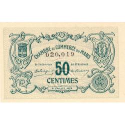 Le Mans - Pirot 69-1a - 50 centimes - 08/07/1915 - Etat : NEUF