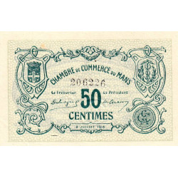 Le Mans - Pirot 69-01b - 50 centimes - 1915 - Etat : SPL+
