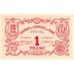 Le Mans - Pirot 69-5 - 1 franc - 08/07/1915 - Etat : SUP+