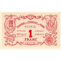 Le Mans - Pirot 69-05 - 1 franc - 1915 - Etat : SUP+