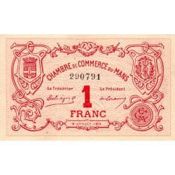 Le Mans - Pirot 69-05 - 1 franc - 1915 - Etat : SUP