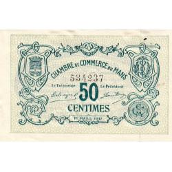 Le Mans - Pirot 69-09 - 50 centimes - 1917 - Etat : pr.NEUF