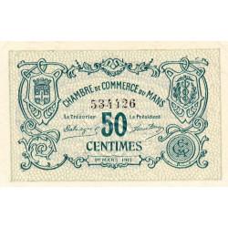 Le Mans - Pirot 69-09 - 50 centimes - 1917 - Etat : SUP+