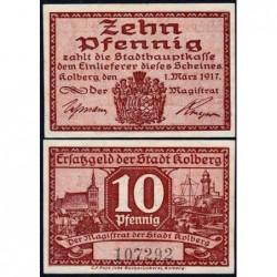 Pologne - Notgeld - Kolberg (Kolobrzeg) - 10 pfennig - 01/03/1917 - Etat : NEUF