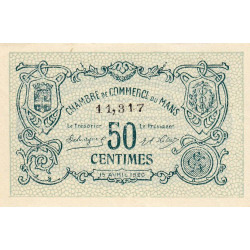 Le Mans - Pirot 69-16a - 50 centimes - 1920 - Etat : NEUF