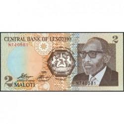 Lesotho - Pick 9 - 2 maloti - Série N - 1989 - Etat : NEUF