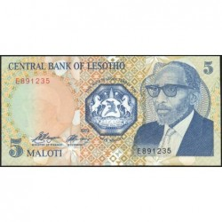 Lesotho - Pick 10 - 5 maloti - Série E - 1989 - Etat : NEUF