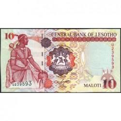 Lesotho - Pick 15e - 10 maloti - Série U - 2007 - Etat : NEUF