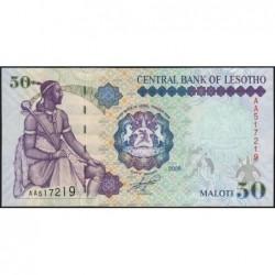 Lesotho - Pick 17e- 50 maloti - Série AA - 2009 - Etat : NEUF