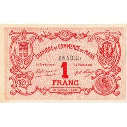 Le Mans - Pirot 69-18b - 1 franc - 15/04/1920 - Etat : SUP+