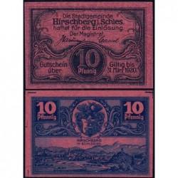 Pologne - Notgeld - Hirschberg in Schlesien (Jelenia Gora) - 10 pfennig - 1919 - Etat : NEUF