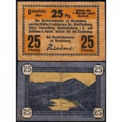 Pologne - Notgeld - Hirschberg in Schlesien (Jelenia Gora) - 25 pfennig - 1920 - Etat : TB