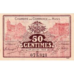 Le Mans - Pirot 69-23 - 50 centimes - 24/01/1922 - Etat : SUP+