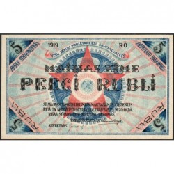 Lettonie - Pick R.3a - 5 rubli - Série RO - 1919 - Etat : NEUF
