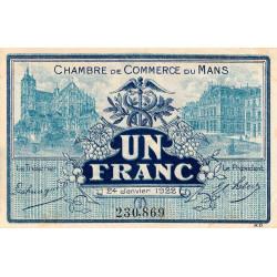 Le Mans - Pirot 69-25 - 1 franc - 24/01/1922 - Etat : TTB+