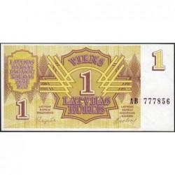 Lettonie - Pick 35 - 1 rublis - Série AB - 1992 - Etat : NEUF