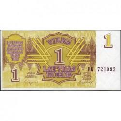 Lettonie - Pick 35 - 1 rublis - Série BK - 1992 - Etat : NEUF