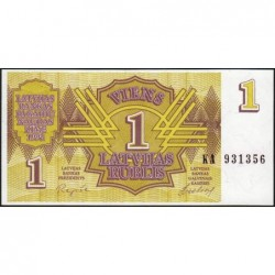 Lettonie - Pick 35 - 1 rublis - Série KA - 1992 - Etat : NEUF