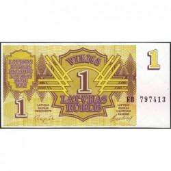 Lettonie - Pick 35 - 1 rublis - Série KB - 1992 - Etat : NEUF
