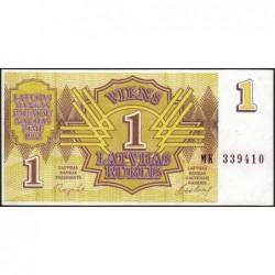 Lettonie - Pick 35 - 1 rublis - Série MK - 1992 - Etat : NEUF