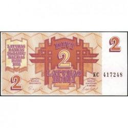 Lettonie - Pick 36 - 2 rubli - Série KC - 1992 - Etat : NEUF