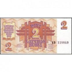Lettonie - Pick 36 - 2 rubli - Série KD - 1992 - Etat : NEUF