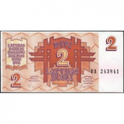 Lettonie - Pick 36 - 2 rubli - Série RA - 1992 - Etat : NEUF