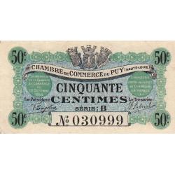 Le Puy (Haute-Loire) - Pirot 70-5 - 50 centimes - Série B - 10/10/1916 - Etat : TTB+