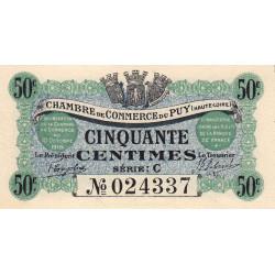 Le Puy (Haute-Loire) - Pirot 70-05 - Série C - 50 centimes - 1916 - Etat : NEUF