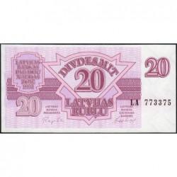 Lettonie - Pick 39 - 20 rubli - Série LA - 1992 - Etat : NEUF
