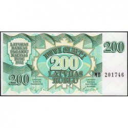 Lettonie - Pick 41 - 200 rubli - Série MB - 1992 - Etat : NEUF