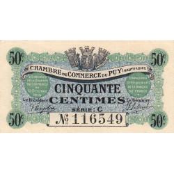 Le Puy (Haute-Loire) - Pirot 70-5 - 50 centimes - Série C - 10/10/1916 - Etat : SUP+