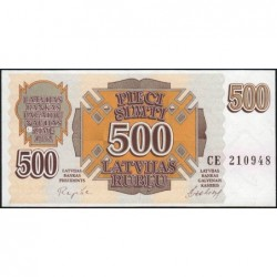 Lettonie - Pick 42 - 500 rubli - Série CE - 1992 - Etat : NEUF