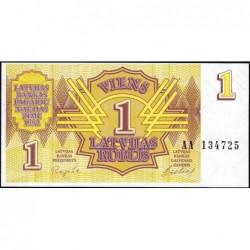 Lettonie - Pick 35 - 1 rublis - Série AA - 1992 - Etat : NEUF
