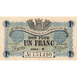 Le Puy (Haute-Loire) - Pirot 70-06-B - 1 franc - 1916 - Etat : TTB