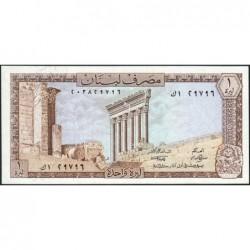 Liban - Pick 61c - 1 livre - 01/03/1980 - Etat : NEUF