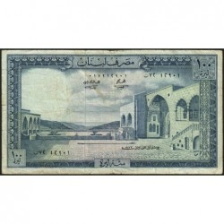Liban - Pick 66b_1 - 100 livres - 01/01/1972 - Etat : TB+