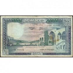 Liban - Pick 66c_2 - 100 livres - 01/03/1985 - Etat : TB