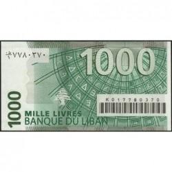 Liban - Pick 84a - 1'000 livres - 22/11/2004 - Etat : NEUF