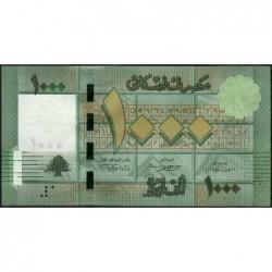 Liban - Pick 90b - 1'000 livres - 17/06/2012 - Etat : NEUF