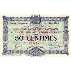 Avignon - Pirot 18-13 - 50 centimes - 11/08/1915 - Etat : NEUF