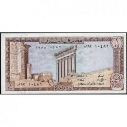 Liban - Pick 61c - 1 livre - 01/03/1980 - Etat : SPL
