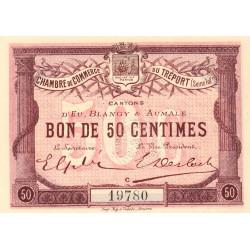 Le Tréport - Pirot 71-1 variété - 50 centimes - Lettre C - Sans série - 1915 - Etat : pr.NEUF
