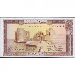 Liban - Pick 64c - 25 livres - 25/08/1983 - Etat : SPL