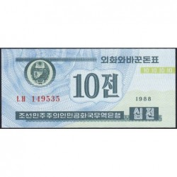 Corée du Nord - Pick 25_1 - 10 jeon - 1988 - Etat : NEUF