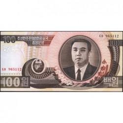 Corée du Nord - Pick 43b - 100 won - 1992 - Etat : NEUF
