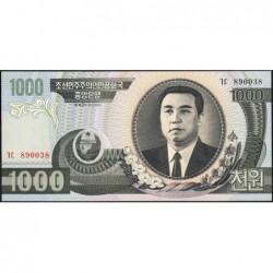 Corée du Nord - Pick 45a_2 - 1'000 won - 2002 - Etat : NEUF