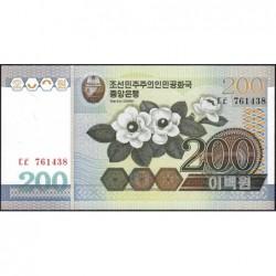 Corée du Nord - Pick 48_2 - 200 won - 2005 - Etat : NEUF