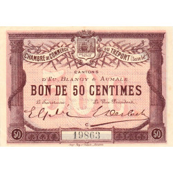 Le Tréport (Eu, Blangy, Aumale) - Pirot 71-01a - 50 centimes - 1915 - Etat : SPL