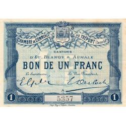 Le Tréport (Eu, Blangy, Aumale) - Pirot 71-02a - 1 franc - 1915 - Etat : TTB+